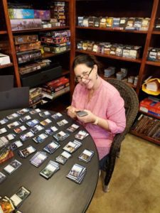 Wendy Sorting and Categorizing MTG Cards